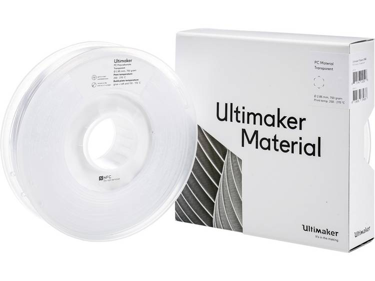 Filament Ultimaker PC (Polycarbonaat) 2.85 mm Transparant 750 g