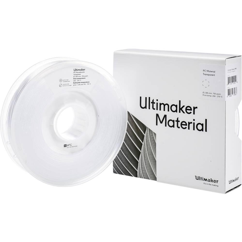 Ultimaker PCA - M3577 Transparent 750 - 212674 3D-skrivare Filament PC (Polykarbonat) 2.85 mm 750 g Transparent 1 st