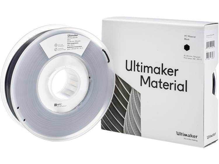 Filament Ultimaker PCA M3577 Black 750 212674 2.85 mm Zwart 750 g