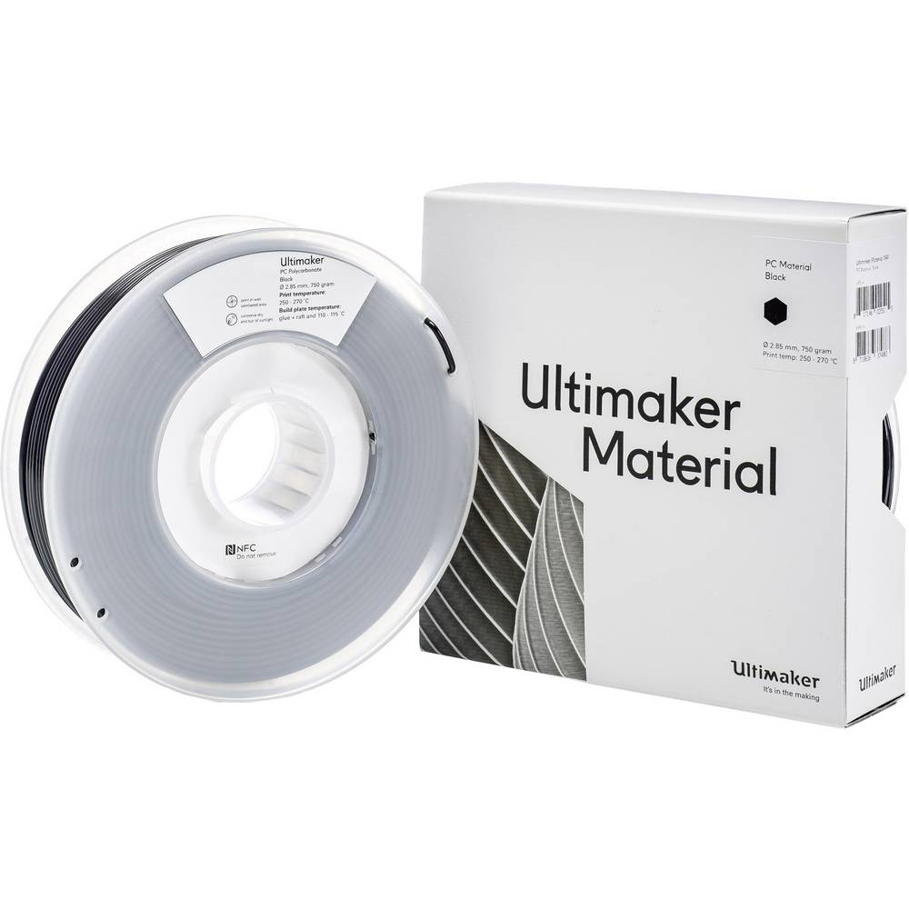 Filament Ultimaker PCA M3577 Black 750 212674 2.85 mm Zwart 750 g
