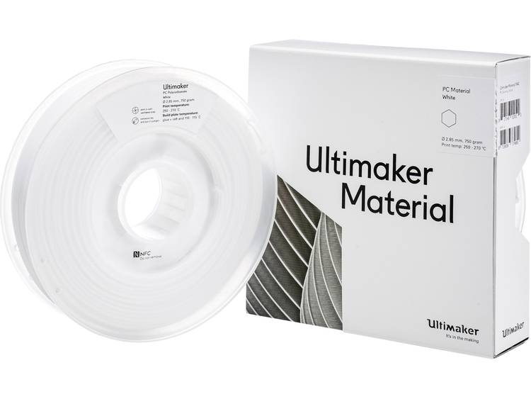 Filament Ultimaker PCA M3577 White 750 212674 2.85 mm Wit 750 g