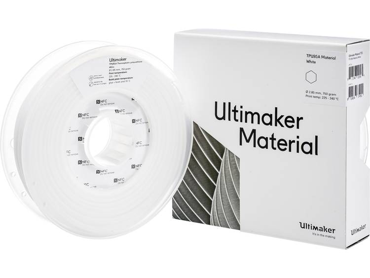 Filament Ultimaker TPU M0369 White 750 215194 Semiflexibel 2.85 mm Weide 750 g