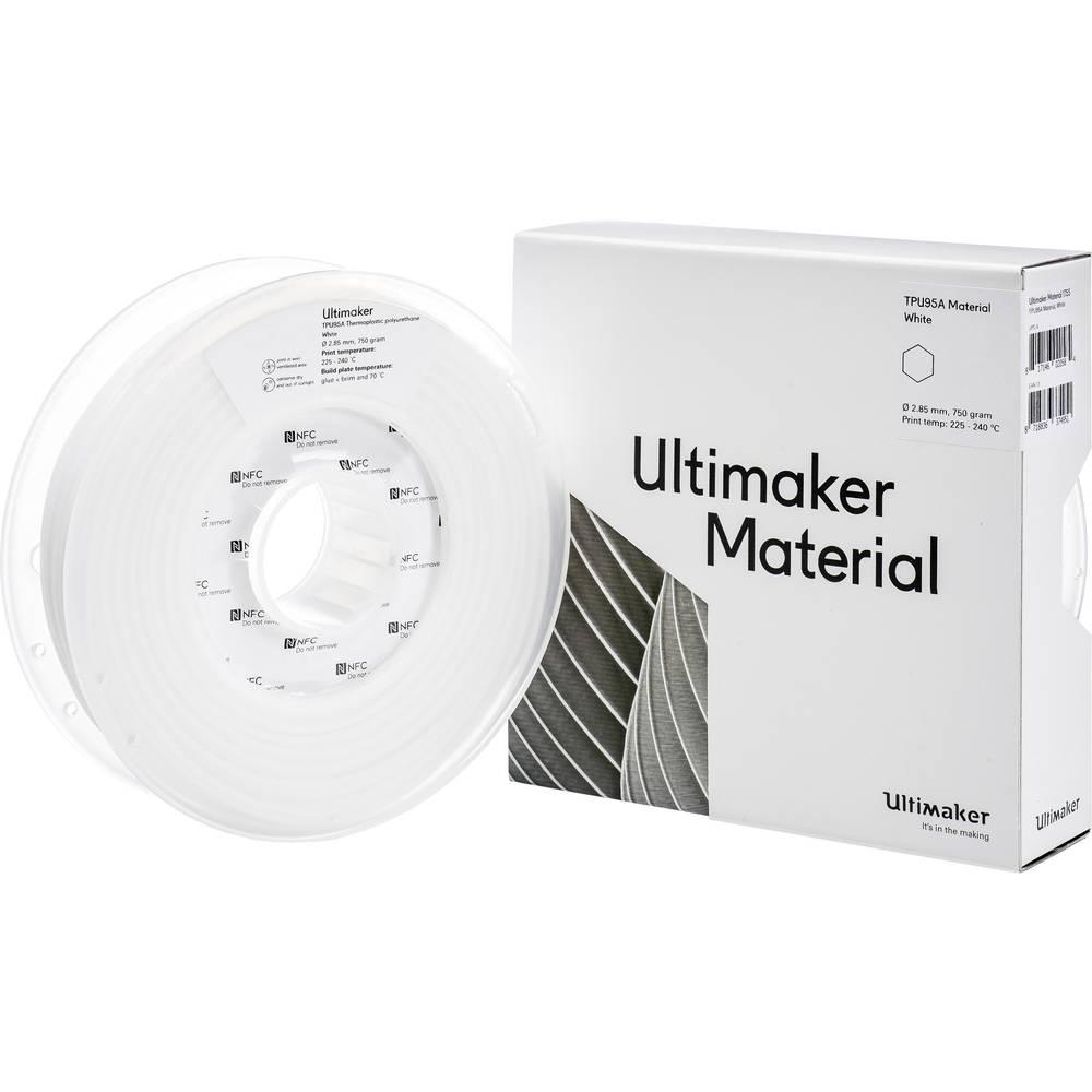 Filament Ultimaker TPU M0369 White 750 215194 Semiflexibel 2.85 mm Weide 750 g