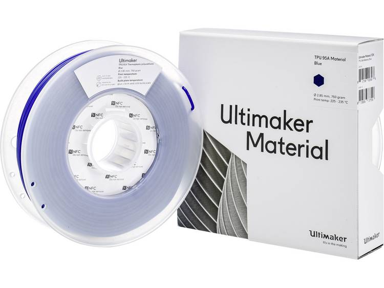 Filament Ultimaker TPU M0369 Blue 750 215194 Semiflexibel 2.85 mm Blauw 750 g