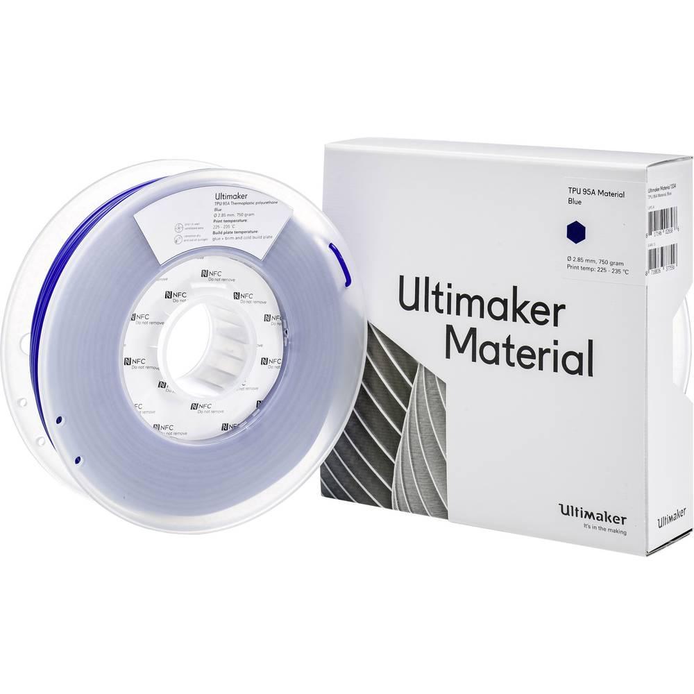 Ultimaker TPU - M0369 Blue 750 - 215194 3D-skrivare Filament semiflexibel 2.85 mm 750 g Blå 1 st