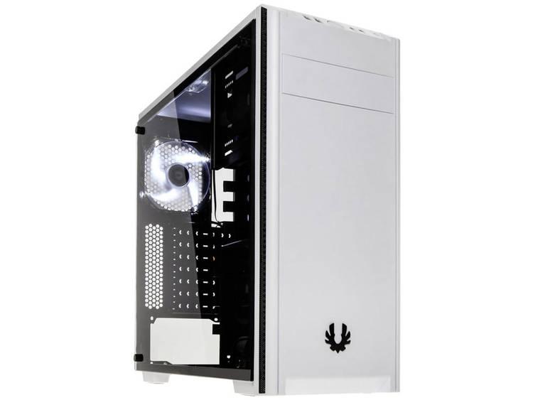 Midi-tower PC-behuizing Bitfenix Nova Wit Zijvenster, Stoffilter, 1 voorgeïnstalleerde ventilator, 1 voorgeïnstalleerde LED-ventilator