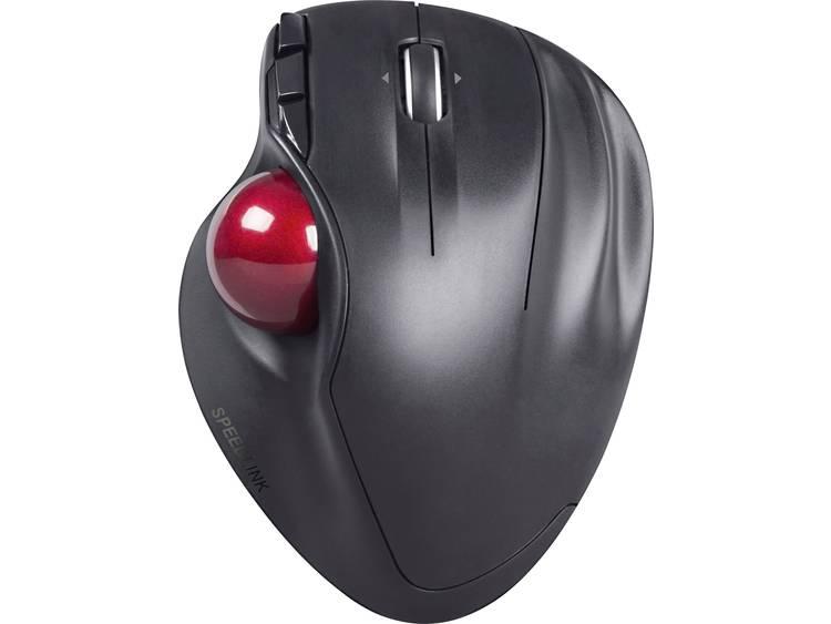Speed-Link Aptico USB game-muis Laser Geïntegreerde trackball Zwart/rood