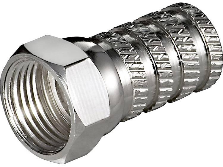 Goobay 51860 Aufdreh-F-stekker Kabeldiameter: 4 mm