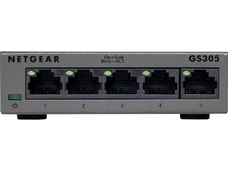 NETGEAR GS305 Netwerk switch RJ45 5 poorten 1 Mbit/s