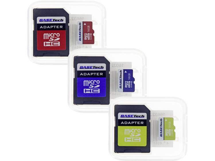 Basetech microSD-kaart 16 GB Class 10 incl. SD-adapter
