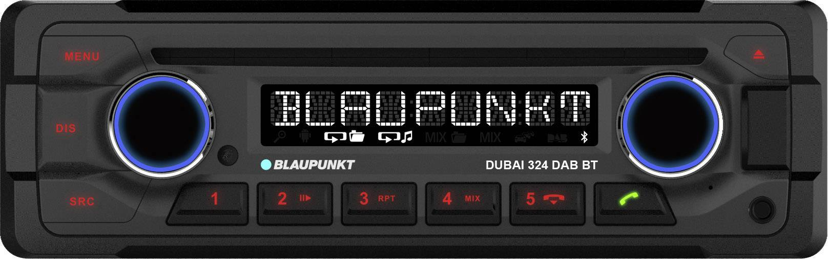 Conrad-Blaupunkt DUBAI-324 DABBT Autoradio enkel DIN DAB+ tuner, Bluetooth handsfree, Aansluiting voor stuurbediening-aanbieding