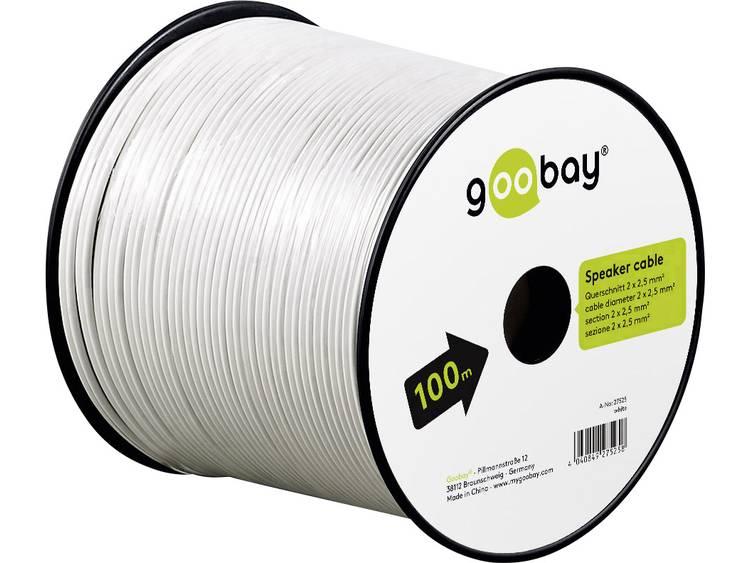 Goobay 27525 Luidsprekerkabel 2 x 2.50 mm² 100 m