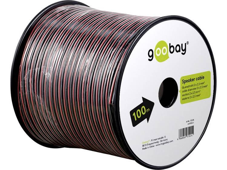 Goobay 67737 Luidsprekerkabel 2 x 2.50 mm² Rood/zwart 50 m