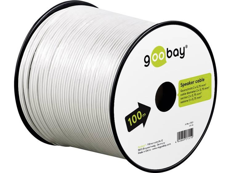 Goobay 67744 Luidsprekerkabel 2 x 0.75 mm² Wit 10 m