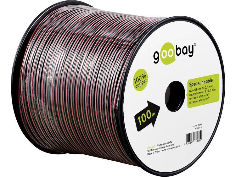 Goobay 15091 Luidsprekerkabel 2 x 0.50 mm² Rood zwart 50 m