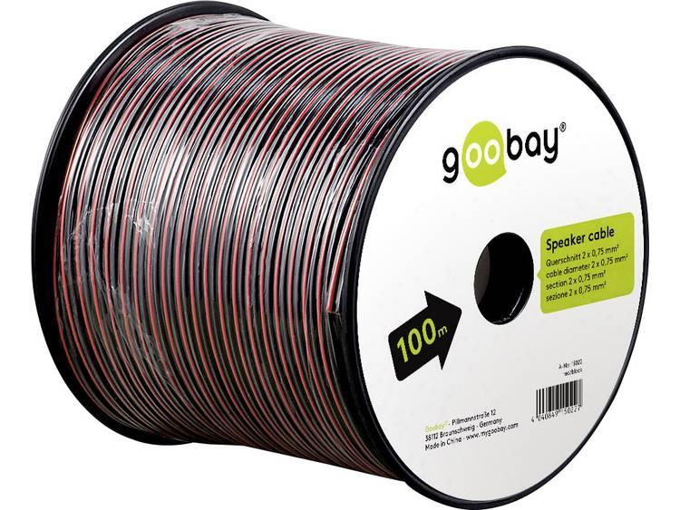 Goobay 67730 Luidsprekerkabel 2 x 0.75 mm² Rood/zwart 25 m