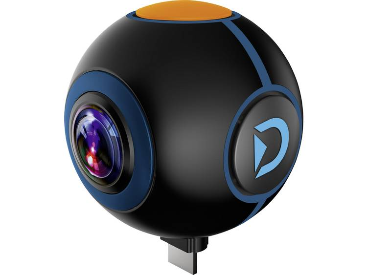 Discovery Adventures HD 720P 720° Android Action Camera Spy Extra camera Zwart 360°