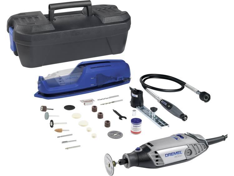 Multifunctioneel gereedschap incl. accessoires, incl. koffer 130 W Dremel 3000-3-55 4-diamonds-Set F