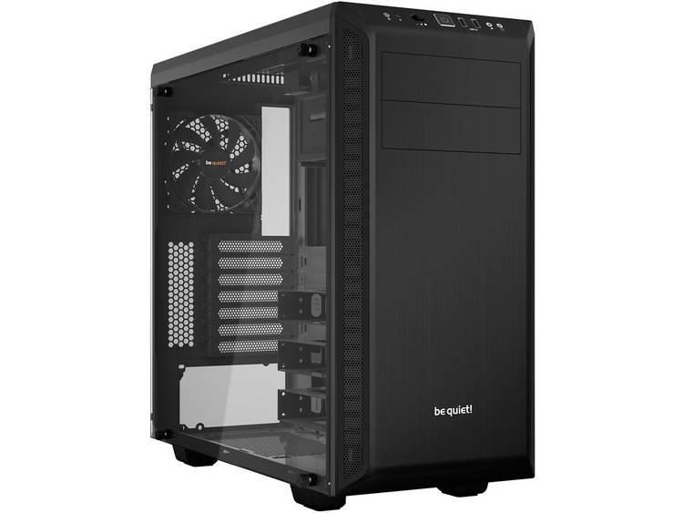 Midi-tower PC-behuizing BeQuiet Pure Base 600 Zwart Geluidsdemping, Zijvenster, 2 voorgeïnstalleerde ventilators