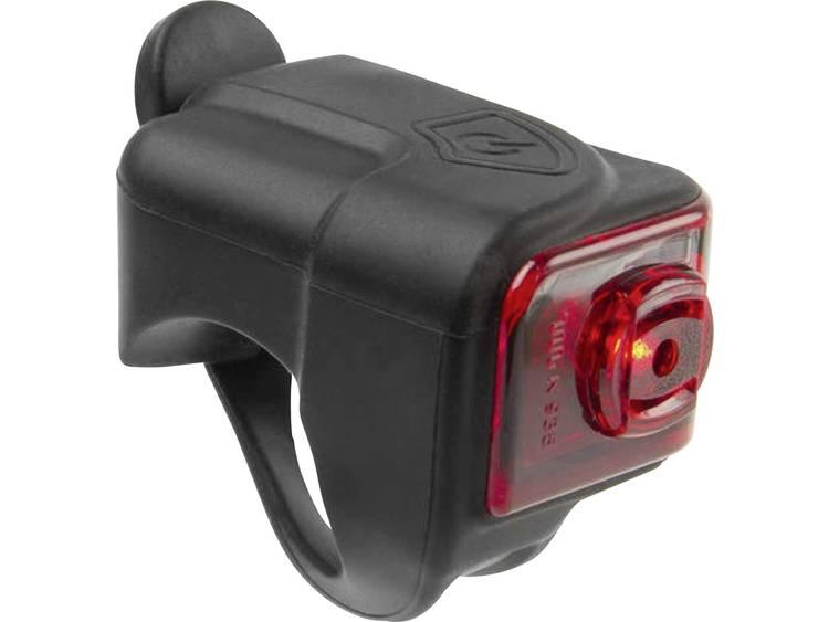 Achterlicht LED M-Wave HELIOS K1.1 USB werkt op een accu Zwart