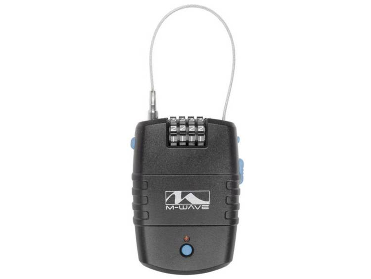 Kabelslot M-Wave LOCK`N`ROL Zwart Met alarm Cijferslot