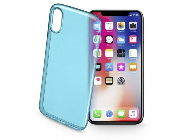 Cellularline COLORCIPH8G iPhone Backcover Geschikt voor model (GSMs): Apple iPhone X Groen (transpar