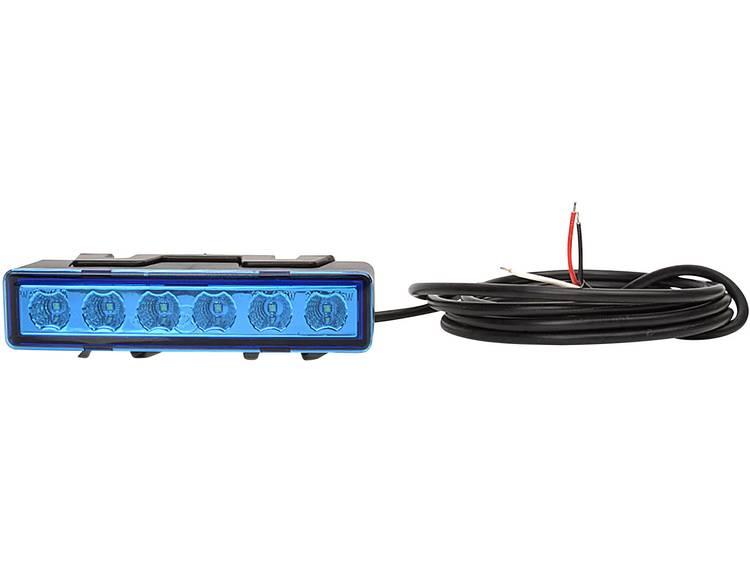 WAS Frontflitser stratenruimer W117 95899.1 12 V, 24 V werkt op boordnet Opbouw, Inbouw, Schroefmontage Blauw