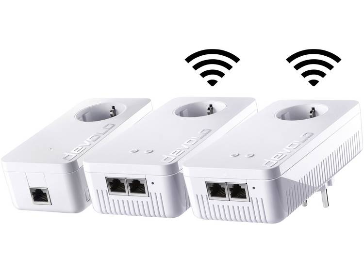Devolo dLAN 1200+ WiFi ac Network Kit Powerline netwerkkit 1.2 Gbit-s