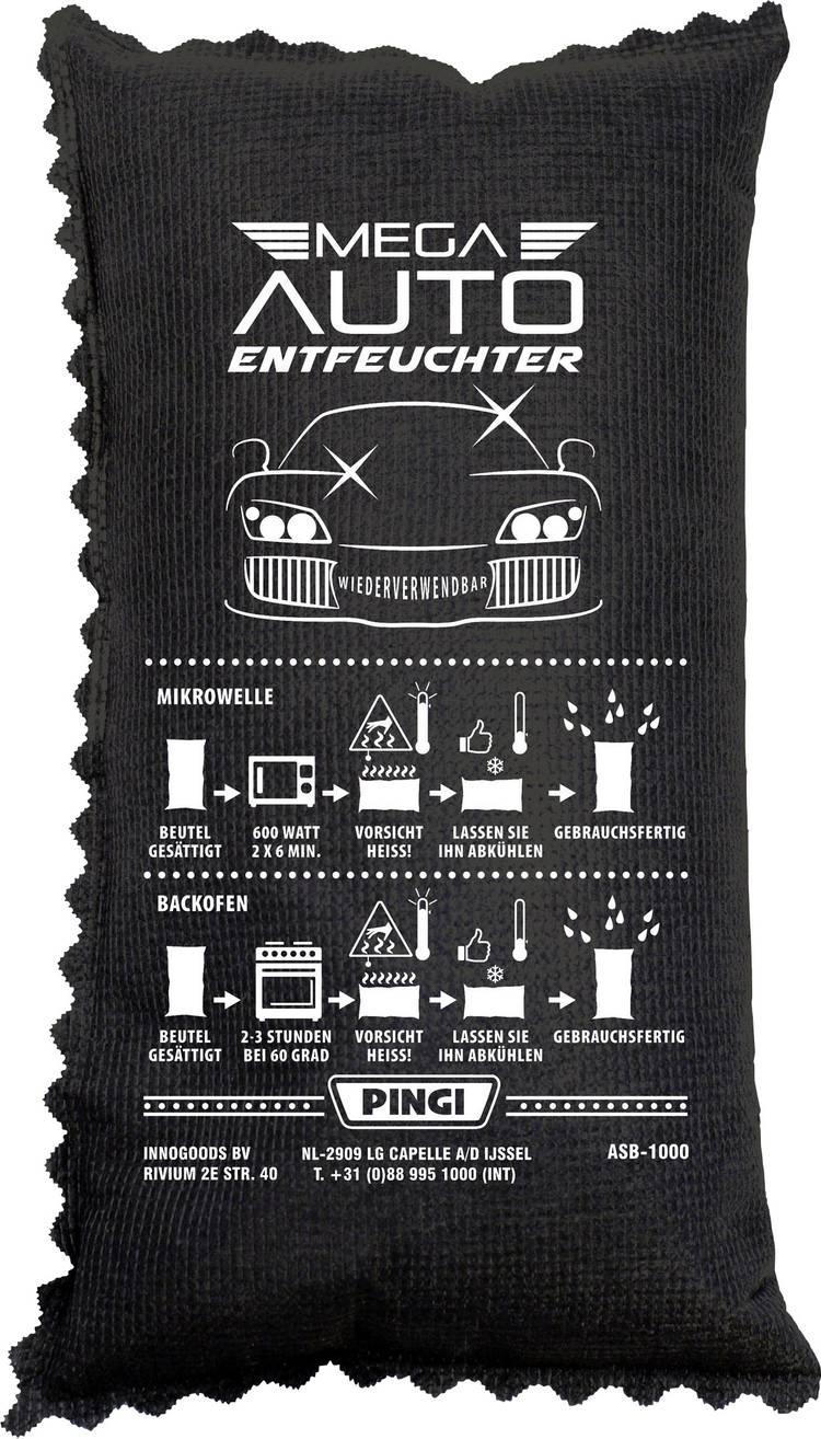 PINGI Luchtontvochtiger (l x b x h) 5 x 15 x 27 cm Carbon geschikt voor alle autos. caravans. campers. enzovoort