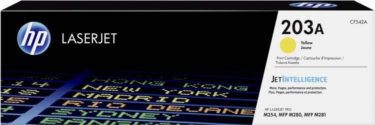 Image of HP Tonercassette 203A CF542A Origineel Geel 1300 bladzijden