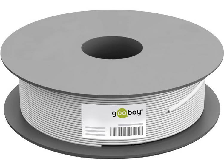 Goobay 67098 Coaxkabel Buitendiameter: 7.05 mm 75 Ω 110 dB Wit 100 m