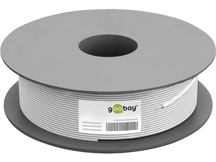 Goobay 67127 Coaxkabel Buitendiameter: 7.05 mm 75 ⦠110 dB Wit 100 m