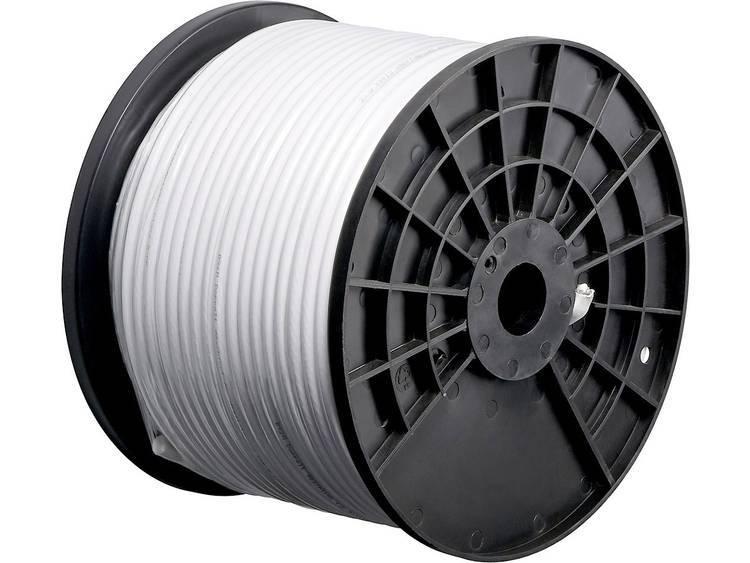 Goobay 67041 Coaxkabel Buitendiameter: 4.60 mm 75 Ω 80 dB Wit 200 m