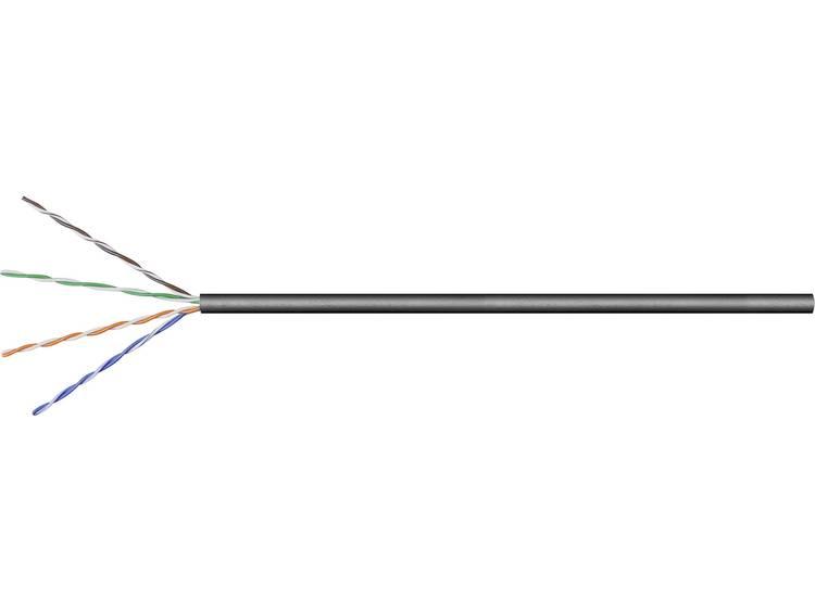 Netwerkkabel CAT 6 U/UTP Goobay 57199 4 x 2 x 0.20 mm² Zwart 100 m
