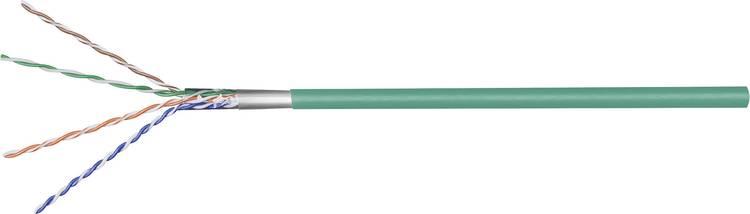 Image of Goobay 93267 Netwerkkabel CAT 5e F/UTP 4 x 2 x 0.12 mm² Groen 100 m