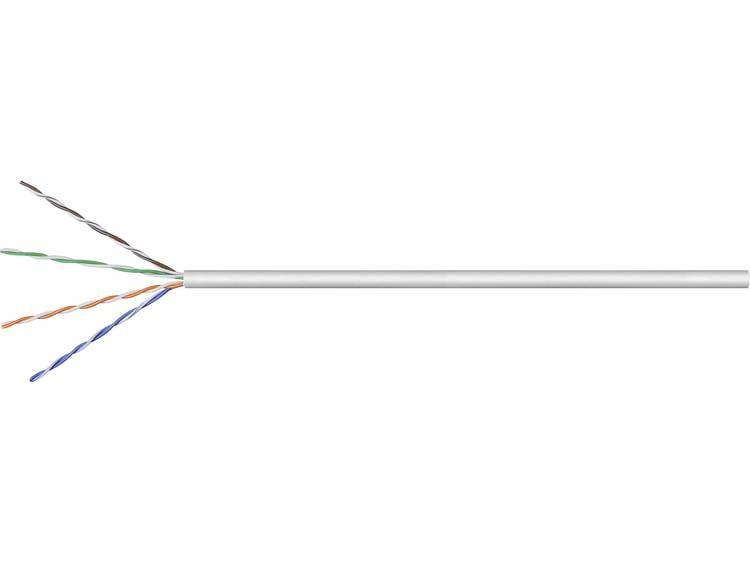 Goobay 95410 Netwerkkabel CAT 5e U/UTP 4 x 2 x 0.25 mm² Grijs 305 m
