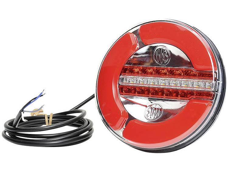 LED Aanhangerachterlicht Achterlicht, Mistlamp, Achteruitrijlicht achter 12 V, 24 V WAS Helder glas