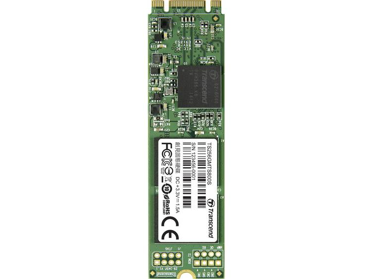 SATA M.2 SSD 2280 harde schijf 256 GB Transcend MTS800S Retail TS256GMTS800S M.2