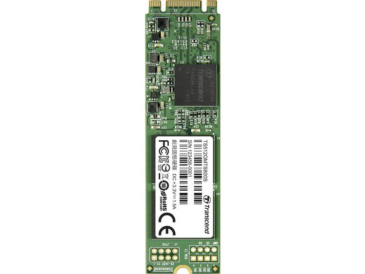 SATA M.2 SSD 2280 harde schijf 512 GB Transcend MTS800S Retail TS512GMTS800S M.2