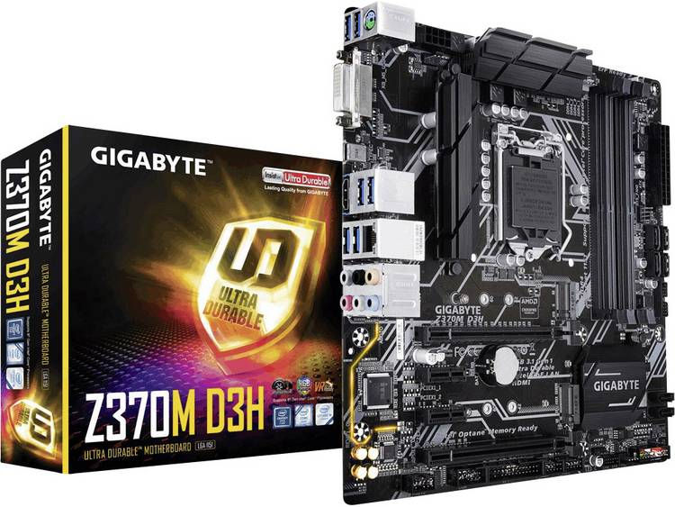 Gigabyte Z370M D3H Moederbord Socket Intel® 1151v2 Vormfactor Micro-ATX Moederbord chipset Intel® Z370