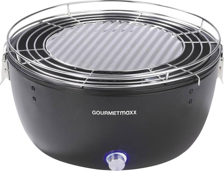 GourmetMaxx 03898 Grill Houtskool Grilloppervlak (diameter)=230 mm Zwart