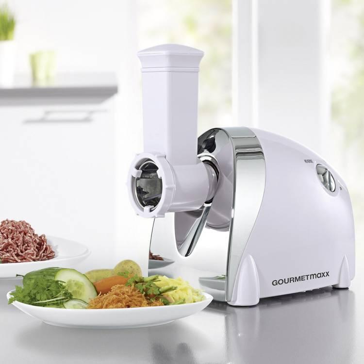 Image of Vleesmolen GourmetMaxx 08612 1607851 1000 W Zilver, Wit