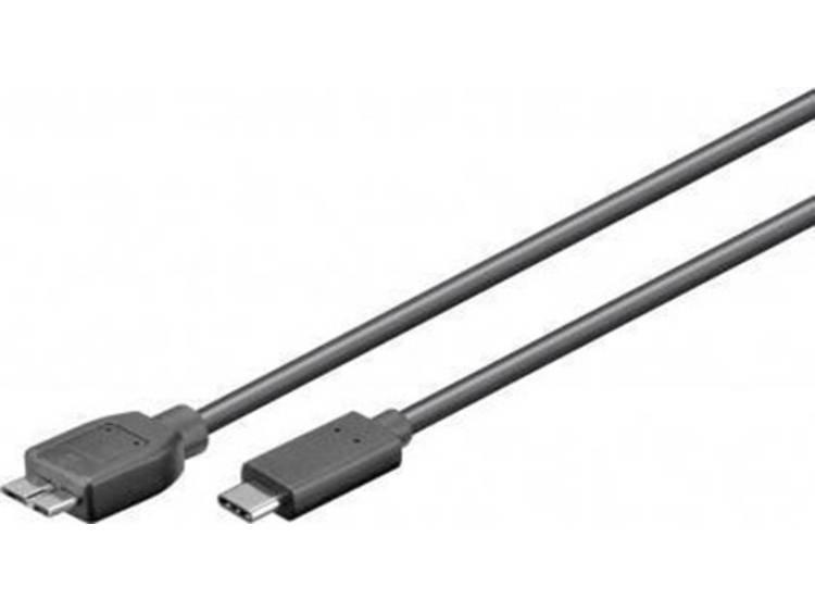 USB 3.0 Kabel Goobay [1x USB 3.0 stekker B - 1x ] 0.6 m Zwart