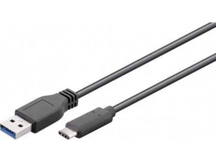 USB 2.0 Kabel Goobay [1x USB 3.0 stekker A - 1x USB 3.0 stekker C] 0.15 m Zwart