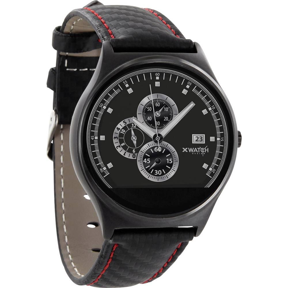 X-WATCH Qin XW Pro Smartwatch Röd, Svart