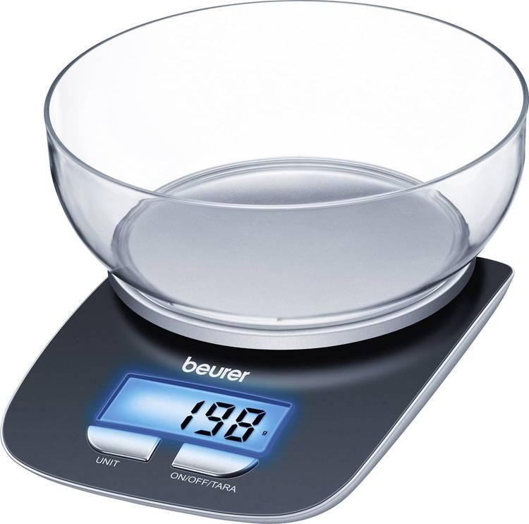 Image of Digitale keukenweegschaal Digitaal, Met schaalverdeling Beurer KS25 Weegbereik (max.)=3 kg Zwart