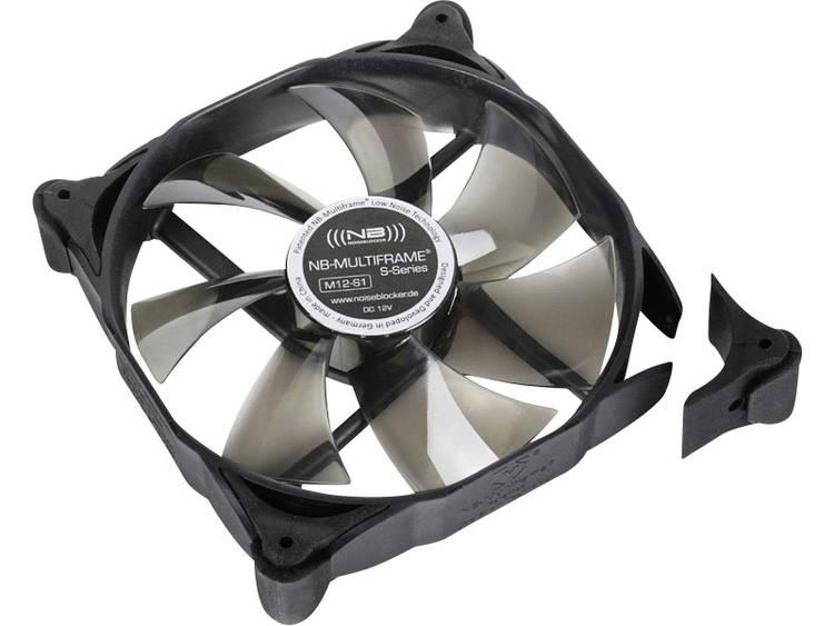 PC ventilator NoiseBlocker Multiframe M12-1 Zwart, Grijs (transparant) (b x h x d) 120 x 120 x 25 mm