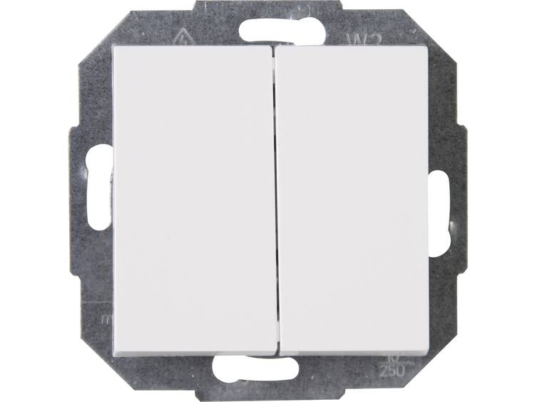 Wisselschakelaar Kopp 587329086 Inbouw Zuiver wit (RAL 9010)