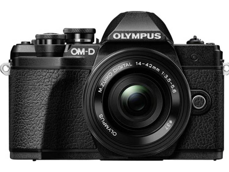 Digitale camera Olympus OM-D E-M10 Mark III Kit Incl. M 14-42 mm + 40-150 mm lenzen 17.2 Mpix Zwart WiFi, Full-HD video-opname, Optische zoeker, Elektronische