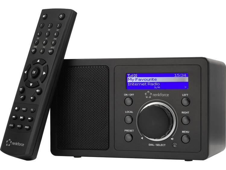 Renkforce RF-IR-MONO1 Tafelradio met internetradio Internet Bluetooth, AUX, Inte